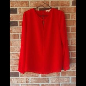 3/$20 Gibson Latimer Orange Keyhole Blouse S